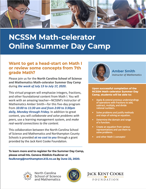 NCSSM Online Summer Day Camp